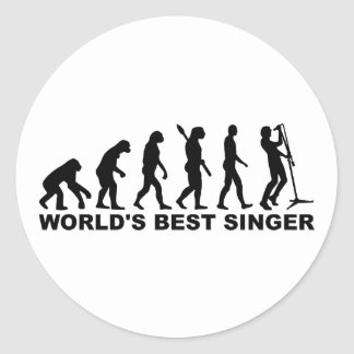 Evolution World's Best Singer Stickers