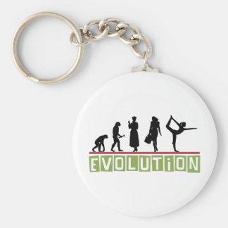Evolution Yoga Basic Round Button Keychain