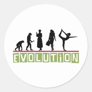 Evolution Yoga Classic Round Sticker