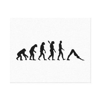 Evolution Yoga Pilates Canvas Print