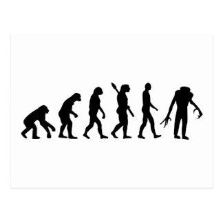 Evolution Zombie horror Postcard