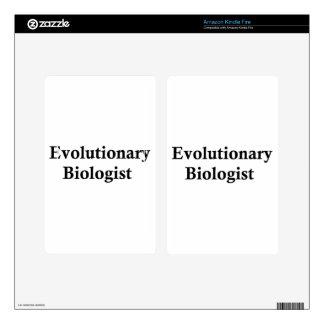 Evolutionary biologist decals for kindle fire