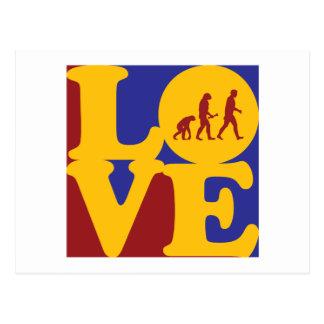 Evolutionary Biology Love Postcard