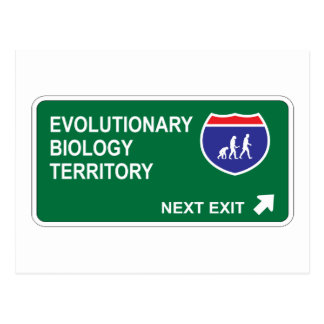 Evolutionary Biology Next Exit Postcard