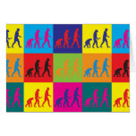 Evolutionary Biology Pop Art Card