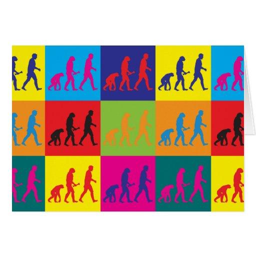 Evolutionary Biology Pop Art Greeting Card