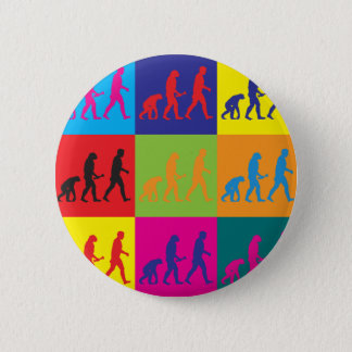 Evolutionary Biology Pop Art Pinback Button