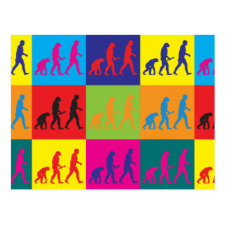 Evolutionary Biology Pop Art Postcard