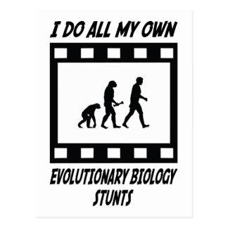 Evolutionary Biology Stunts Postcard
