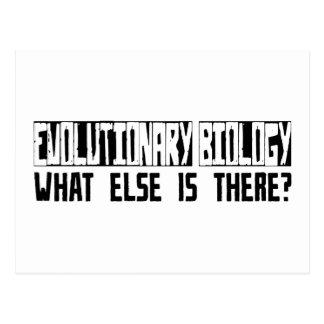 Evolutionary Biology What Else Is There? Postcard