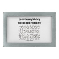 evolutionary history can be a bit repetitive belt buckle
