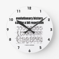 evolutionary history can be a bit repetitive round wall clock
