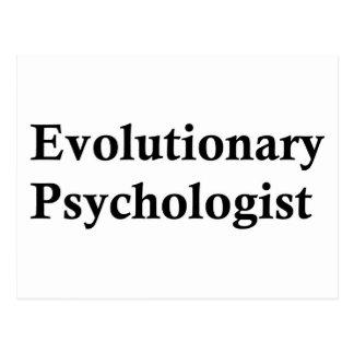 Evolutionary psychologist postcard