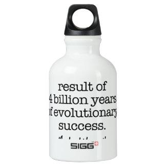 Evolutionary Success Motivational Quote Aluminum Water Bottle