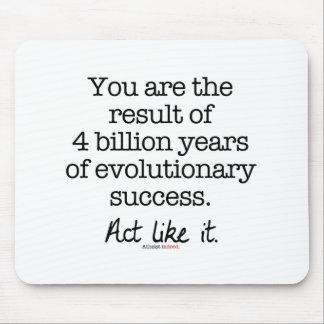 Evolutionary Success Motivational Quote Mousepads