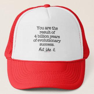 Evolutionary Success Motivational Quote Trucker Hat