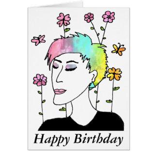 Evolve Art Birthday Card