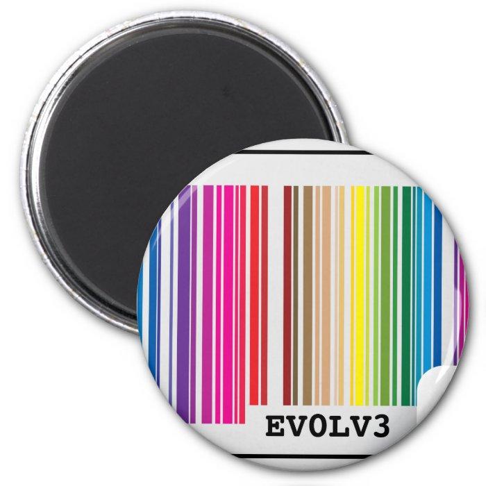 evolve barcode 2 inch round magnet