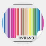 evolve barcode classic round sticker
