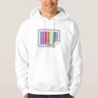 evolve barcode hoodie