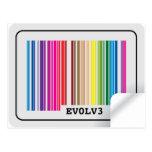 evolve barcode post card