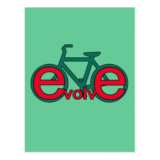 Evolve Bicycle Art for Tshirts, Apparel Postcard
