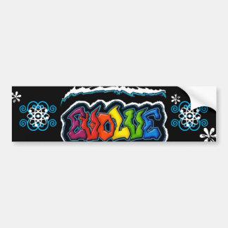 """Evolve"" Bumper Sticker"