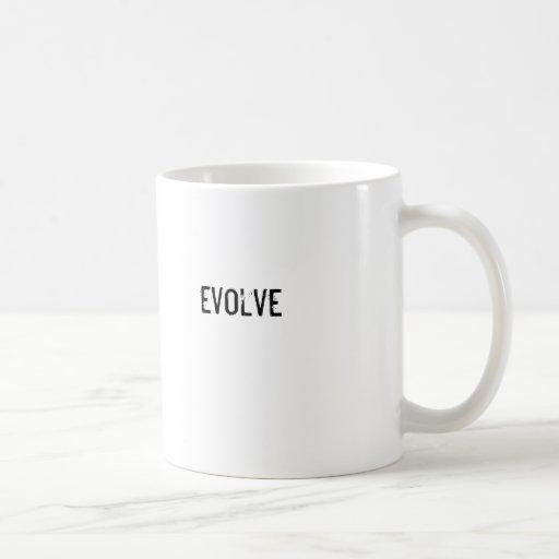 evolve classic white coffee mug