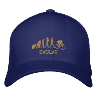 Evolve Evolution of Cycling Bicycle Embroidered Baseball Cap