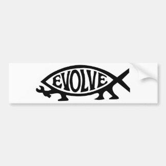 Evolve Fish Car Bumper Sticker
