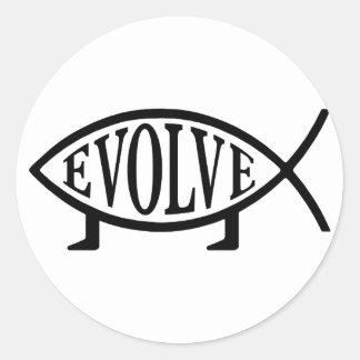 Evolve Fish Classic Round Sticker