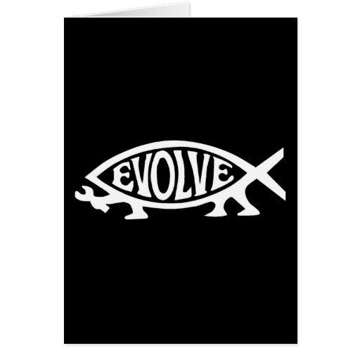 Evolve Fish Greeting Card