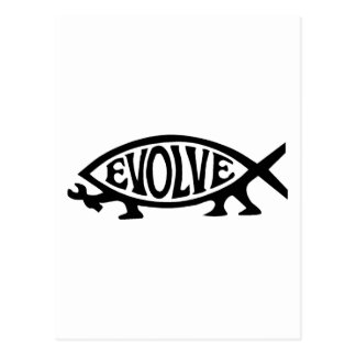 Evolve Fish Postcard