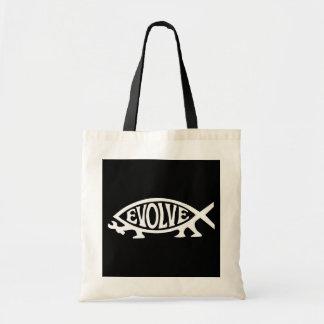 Evolve Fish Tote Bag