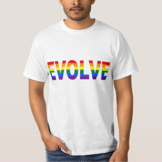 EVOLVE in Rainbow Colors for Gay Rights T-Shirt