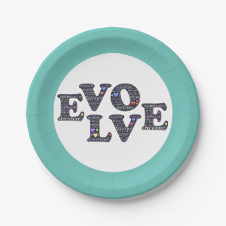 Evolve paper plate