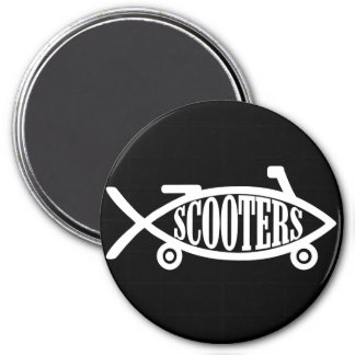 Evolve to Scooters 3 Inch Round Magnet