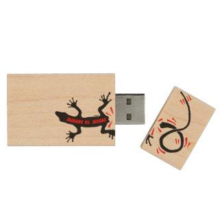 Evolve to survive wood USB 2.0 flash drive