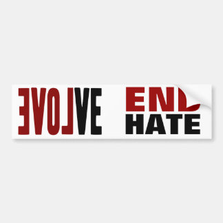Evolve with LOVE Bumper Sticker