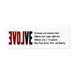 Evolve with LOVE Return Address Label