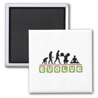 Evolve Yoga 2 Inch Square Magnet