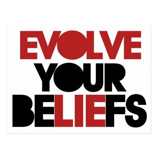 Evolve Your Beliefs Postcard