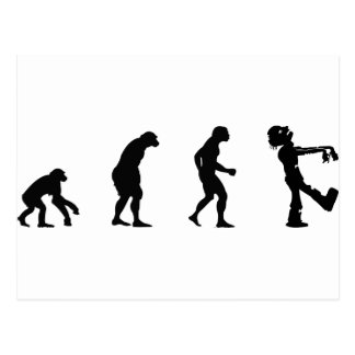 evolve zombie postcard