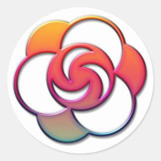Evolver Crop Circle Classic Round Sticker