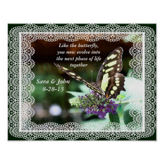Evolving Butterfly Nature Wedding Poster