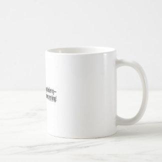 evolving classic white coffee mug