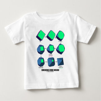 Evolving Cube Inside (Math & Geometry) Baby T-Shirt