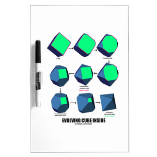 Evolving Cube Inside (Math & Geometry) Dry Erase Whiteboard