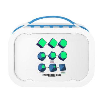 Evolving Cube Inside (Math & Geometry) Yubo Lunch Box