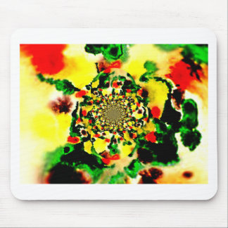 Evolving flower mouse pad